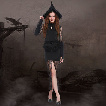 Witch Cosplay Anime Cosplay Apparel Halloween Costume [9220887940]