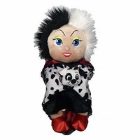 """disney parks 10"""" baby cruella de vil plush toy with blanket new with tag"""