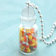 candy corns in a jar necklace