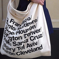 AA  tote bag Beach Travel AA Shopping School Bag Letters Tote Bag