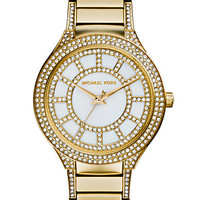 Michael Kors Ladies Kerry Gold Tone and Crystal Watch