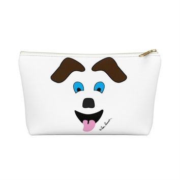 Pouch Bag: Zippered; Dog art; T-bottom ships free by PonsART $23.95+