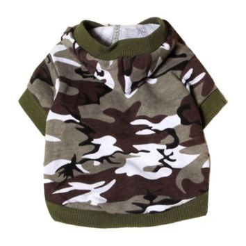 Hot selling New clothes for dogs Pet Sweatshirt Camo Camouflage Coats Hoodies Costume pet clothes