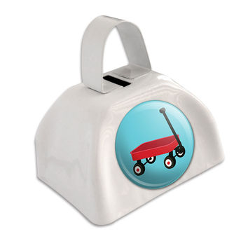 Little Red Wagon White Cowbell Cow Bell