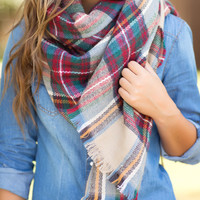 Cute & Cozy Plaid Scarf-Multi
