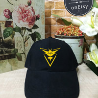 Pokemon Hats Ash Ketchum Cosplay Pokémon Go,Team Yellow, Team Instinct, Instinct hat Baseball Cap Low Profile, Pinterest Instagram Tumblr