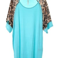 Mint Animal Print Top