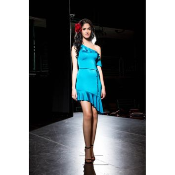 Salsa Flow Blue Assymetrical Dress