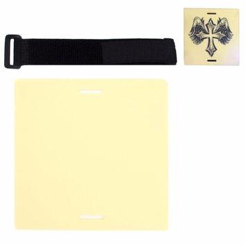 15*15*0.3cm Silicone Disposable Practice Tattoo Skin with Tape Bandage Artificial Skin Tattoo Accessories