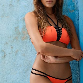 PILYQ Omni Orange Strappy Top