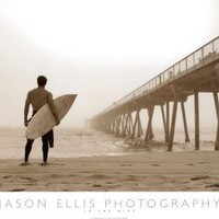 Jason Ellis In the Mist Surfer on Beach Art Print Poster Poster Poster Print, 36x24