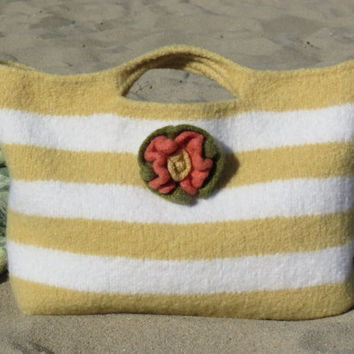 Summer Sun, Felted Purse Pattern, Knit Bag Pattern, Felted Purse, Knitted Purse, Knitting Pattern, Instant Download, PDF