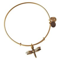 Alex and Ani Dragonfly Charm Bangle Bracelet - Rafaelian Gold Finish