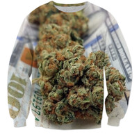 Money, weed, and sweaters