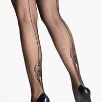SPANX® 'Uptown Floral' Back Seam Fishnet Pantyhose | Nordstrom