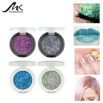 MK 24 Colors Face Body Glitter Shiny Powder Makeup Glitter Gold Silver Diamond Gel Hair Eyes Lips Paint Cosmetic Set For Party