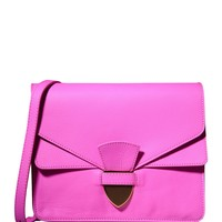 Sophie Hulme Fuchsia Spear Tab Handbag - Pink Crossbody Bag - ShopBAZAAR
