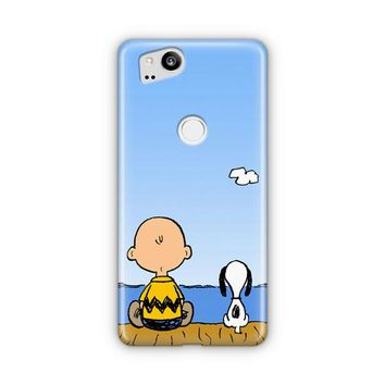Snoopy And Charlie Brown Google Pixel 3 XL Case | Casefantasy