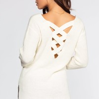 Priestley Lace Back Sweater - Ivory