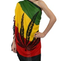 Rasta Weed Cannabis Shawl Wrap Cape