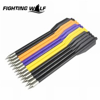 12Pcs lot 16cm Mix Color Archery Crossbow Bolt Hunting Shooting Arrow Steel Bow Arrow Tactical Military Hunting Accessory