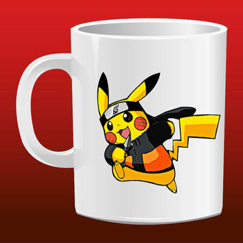 Pokemon Pikachu Naruto Cosplay for Mug Design