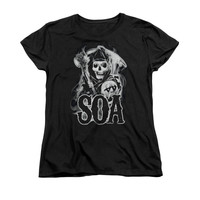 SONS OF ANARCHY SMOKY REAPER Women's Short Sleeve T-Shirt