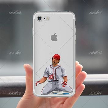 20 Baseball Clear Phone Case for ALL iPhone 7 7Plus 6 6s Plus 5 5s SE