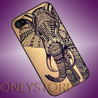 Aztec Elephant - Photo Print for iPhone 4/4s, iPhone 5/5C, Samsung S3 i9300, Samsung S4 i9500 Hard Case