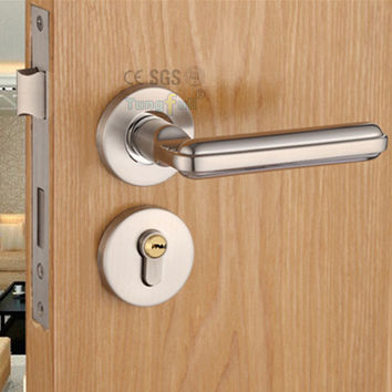 Steel Alloy Stealth Interior Locks European Bedroom Bathroom Livingroom Hardware Door Lock Wooden Door Handles Lock