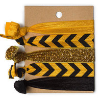 Black & Gold Chevron Hair Ties