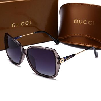 GUCCI Stylish Women Men Elegant Sun Shades Eyeglasses Glasses Sunglasses Grey I-HWYMSH-YJ