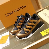 LV Louis Vuitton Man  Fashion Casual Shoes Leather Shoes