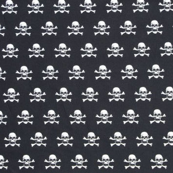 Skulls steering wheel cover print Cotton skull and crossbones black and white print pirate goth emo punk car