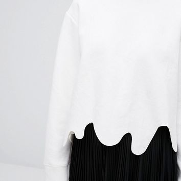 STYLENANDA Drippy Hem Sweatshirt at asos.com