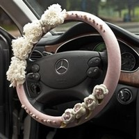 Wholesale  Fashion Lace Petal Crystal Peal Steering Wheel Cover - DinoDirect.com