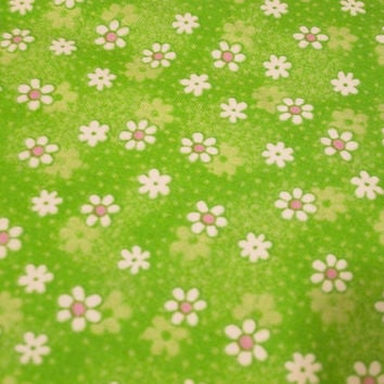 Bright Green, Pink, Floral fabric, Kids Fabric, Girls fabric, Baby fabric, Cotton, Fat quarter, Half Yard, Yardage, Quilting, Sewing, Crafts