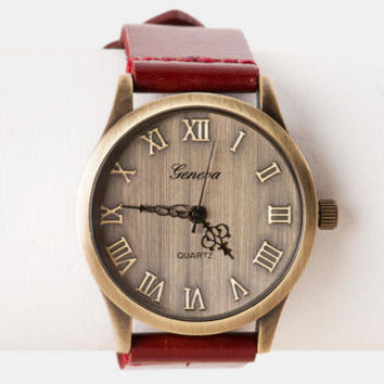 SALERNO RUSTIC WATCH IN RED