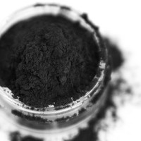 Coal - True Black Vegan Mineral Eyeshadow / Eyeliner - Handcrafted Makeup
