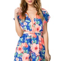 Bright Bloom Surplice Romper