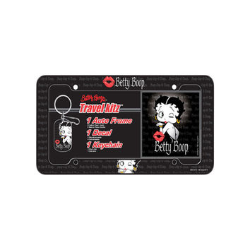 Betty Boop Timeless Travel Kitz License Plate Frame W/ Key Chain & Sticker
