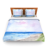 "Rosie Brown ""Wet Sand"" Beach View Lightweight Duvet Cover"