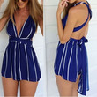 All That Jazz Navy Wrapped Romper