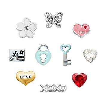 Mothers day 10 Pcs Butterfly Floating Charms For Synthetic glass Living Memory Lockets Necklace amp Bracelets
