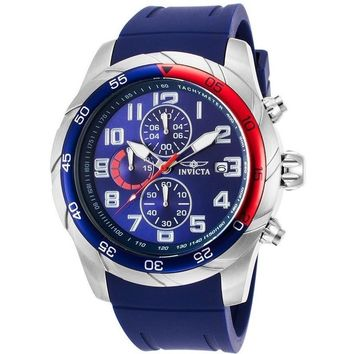 Invicta Men's 'Pro Diver' Quartz Stainless Steel and Silicone Automatic Watch, Color:Blue (Model: 21946)