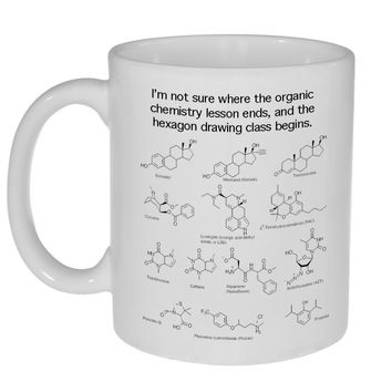 Organic Chemistry Hexagon Drawing Class Mug -11 ounce