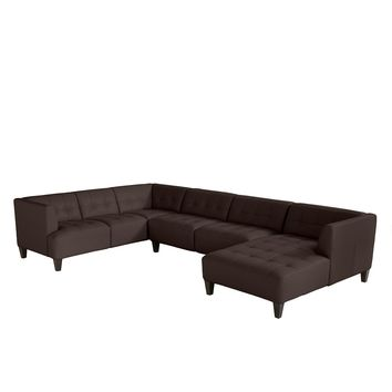 Alessia Leather 3-Piece Sectional Sofa