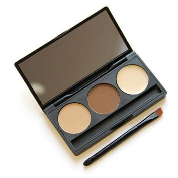 Eyebrow Powder Eye Brow Palette Cosmetic Makeup Shading Kit Brush Mirror