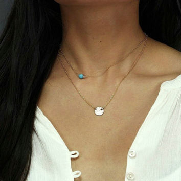 New Arrival Stylish Jewelry Shiny Gift Accessory Simple Design Necklace [4918870404]