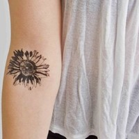 Tattify Flower Temporary Tattoo - Sunflower (Set of 2)